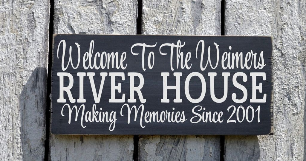 River House Decor Personalized River Family Name Sign Custom - Custom houseboat vinyl names
