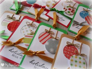 My Paper Factory: TUTORIAL: TAG di Natale - Christmas TAG