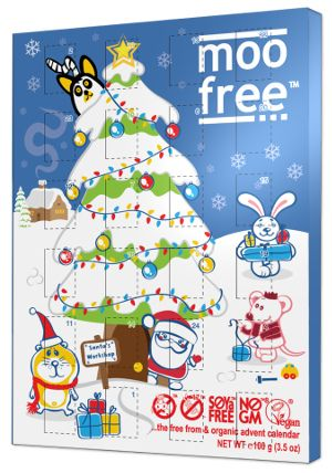 moo free makes a dairy and gluten free chocolate advent calendar