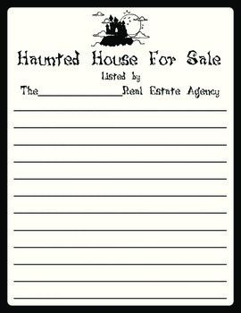 haunted house creative writing on tpt writing haunted house creative writing on tpt