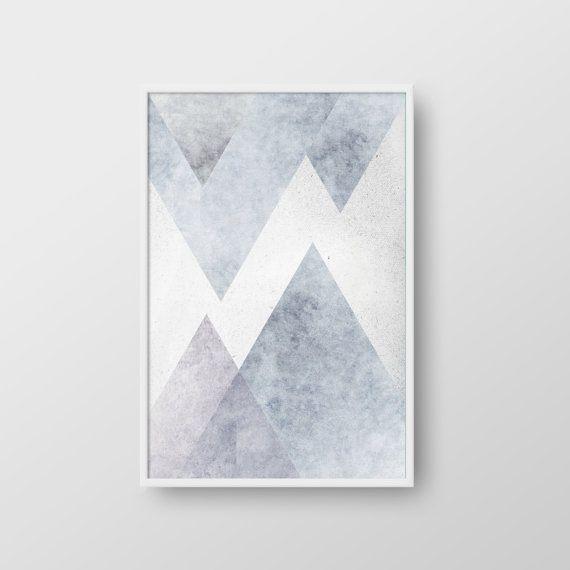 Nordic Art Graphic Design Art Abstract Geometric Print Abstract Wall Art Mountain Art Abstract Mountains Geometric Art Scandinavian Art Geometric Wall Art