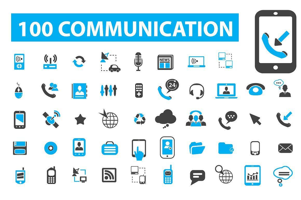 100 Communication Icons With Images Communication Icon