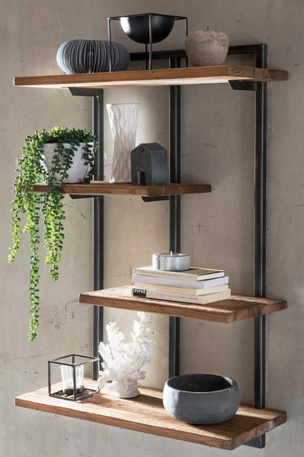 Modernes Wandregal Aus Massivholz Wandregale Design Regalwand Wandregal Wohnzimmer
