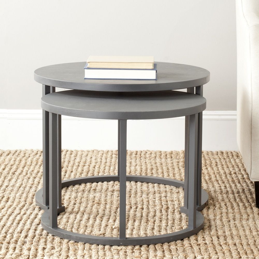 safavieh chindler charcoal grey nesting tables set of 2 rh pinterest com