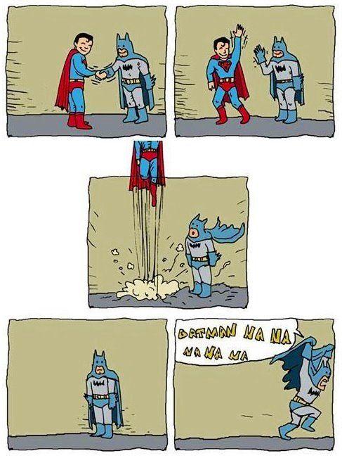 bahahaha batman never loses his swag
