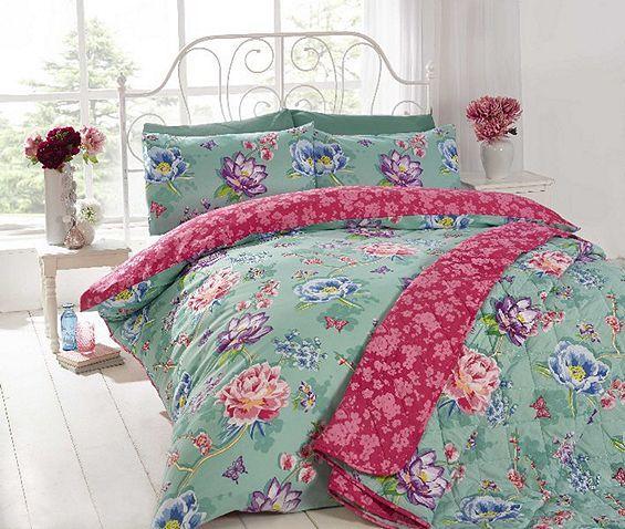 Tesco direct: Sapporo Teal Duvet Cover Set | Wedding Bedding | Pinterest