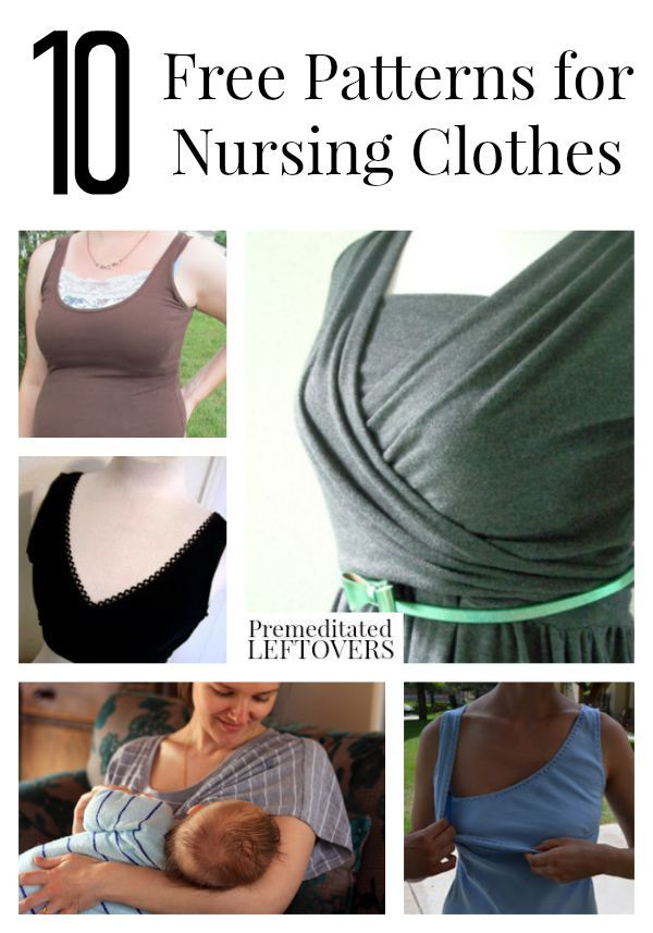 10 Free Patterns for Nursing Clothes