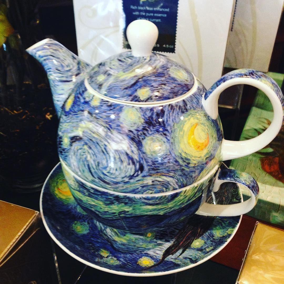 Van Gogh inspired fine china tea cups