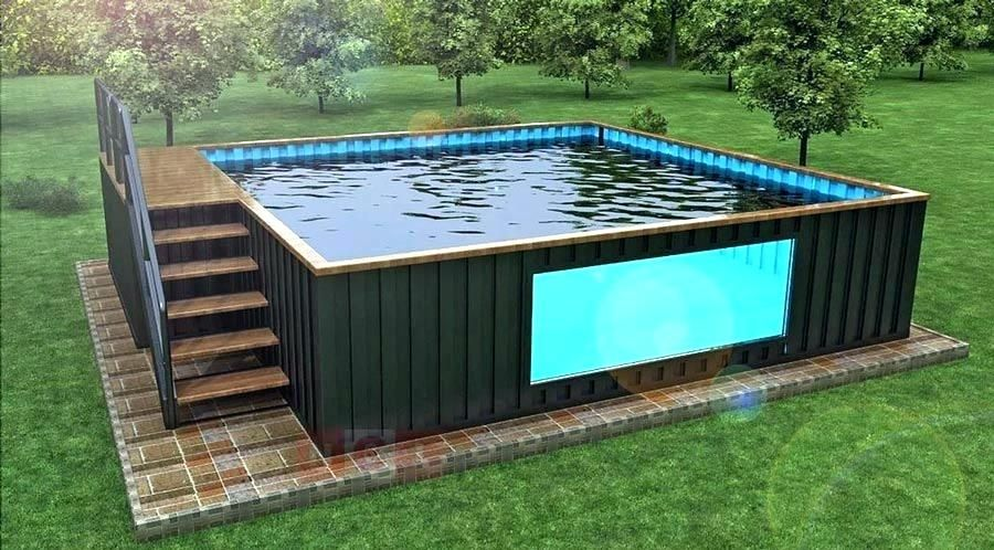 Shipping Container Pool Cost Shipping Container Pool For