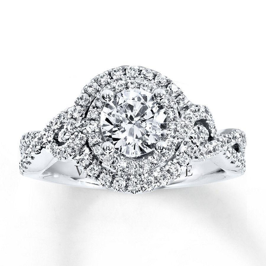 Image result for Vera Wang LOVE Ring 1-1/2 ct tw Diamonds 14K White Gold