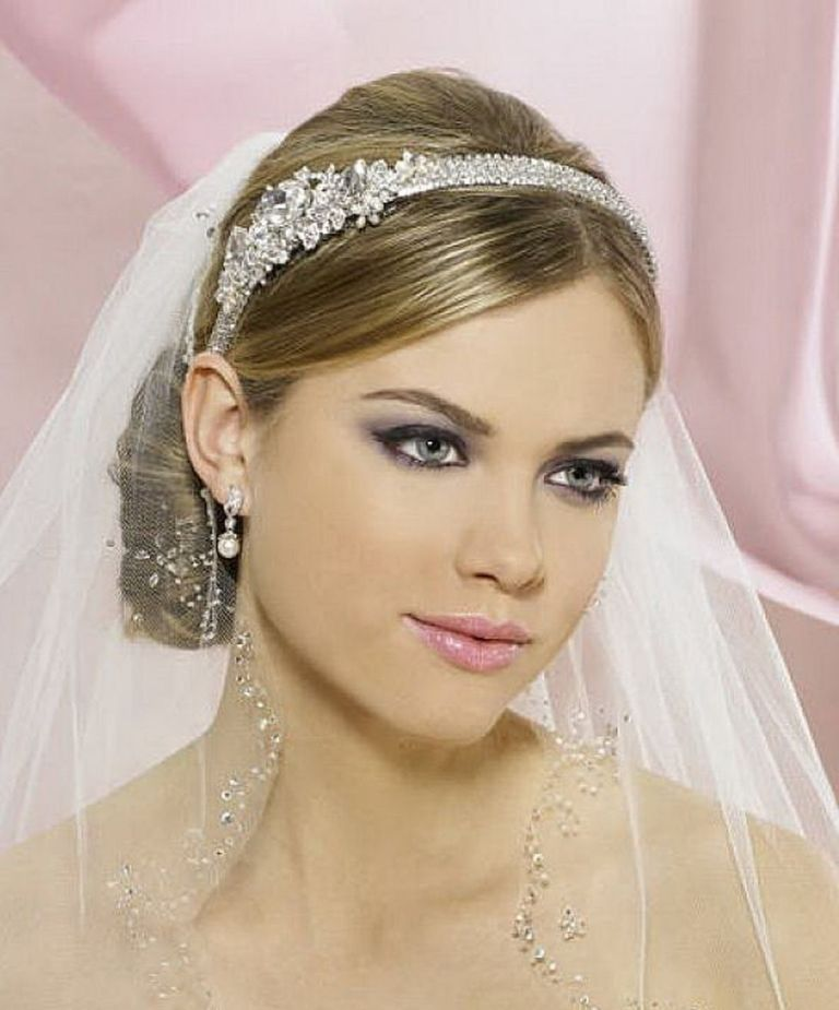 "Wedding Hairstyle With Veil: ""Wedding Headbands"" The Best Choice For Brides, Why"
