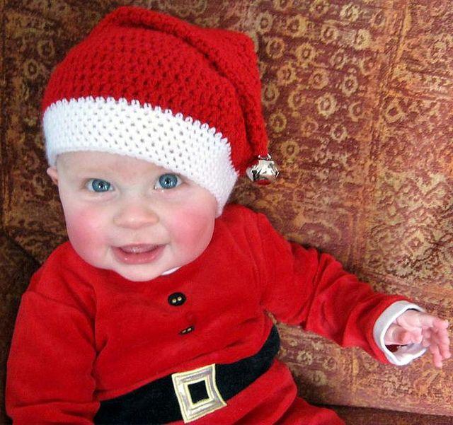 Free Crochet pattern: baby santa hat | Häkeln Baby | Pinterest ...
