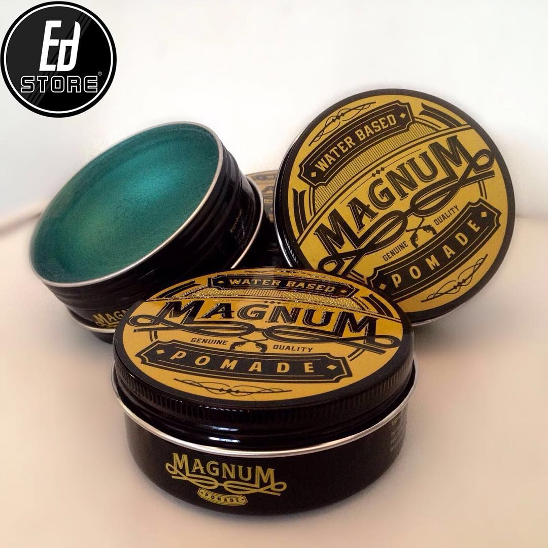 Magnum Pomade Strong Hold Water Based Pomade Packaging Mens Hair Care Beard Oil And Balm