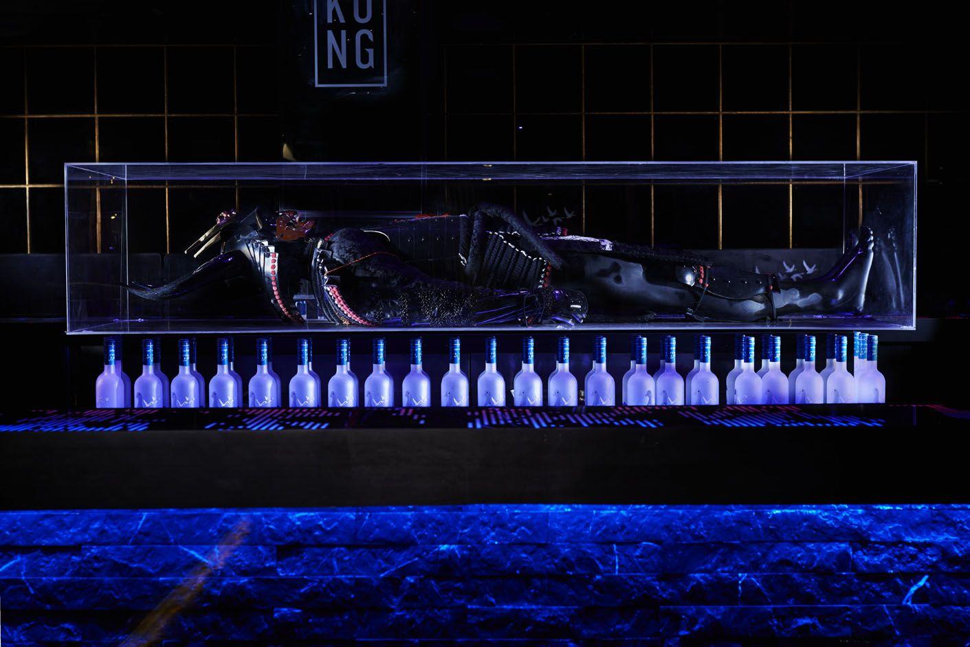 Kong Nightclub- Samurai back of bar  #greygoose #kong #nightclubdesign #bardesign #interiordesign #southafrica