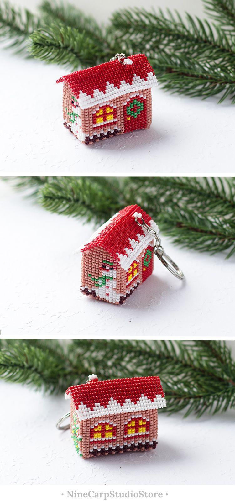 Christmas gift idea 2018 - Christmas house keychain #christmas ...