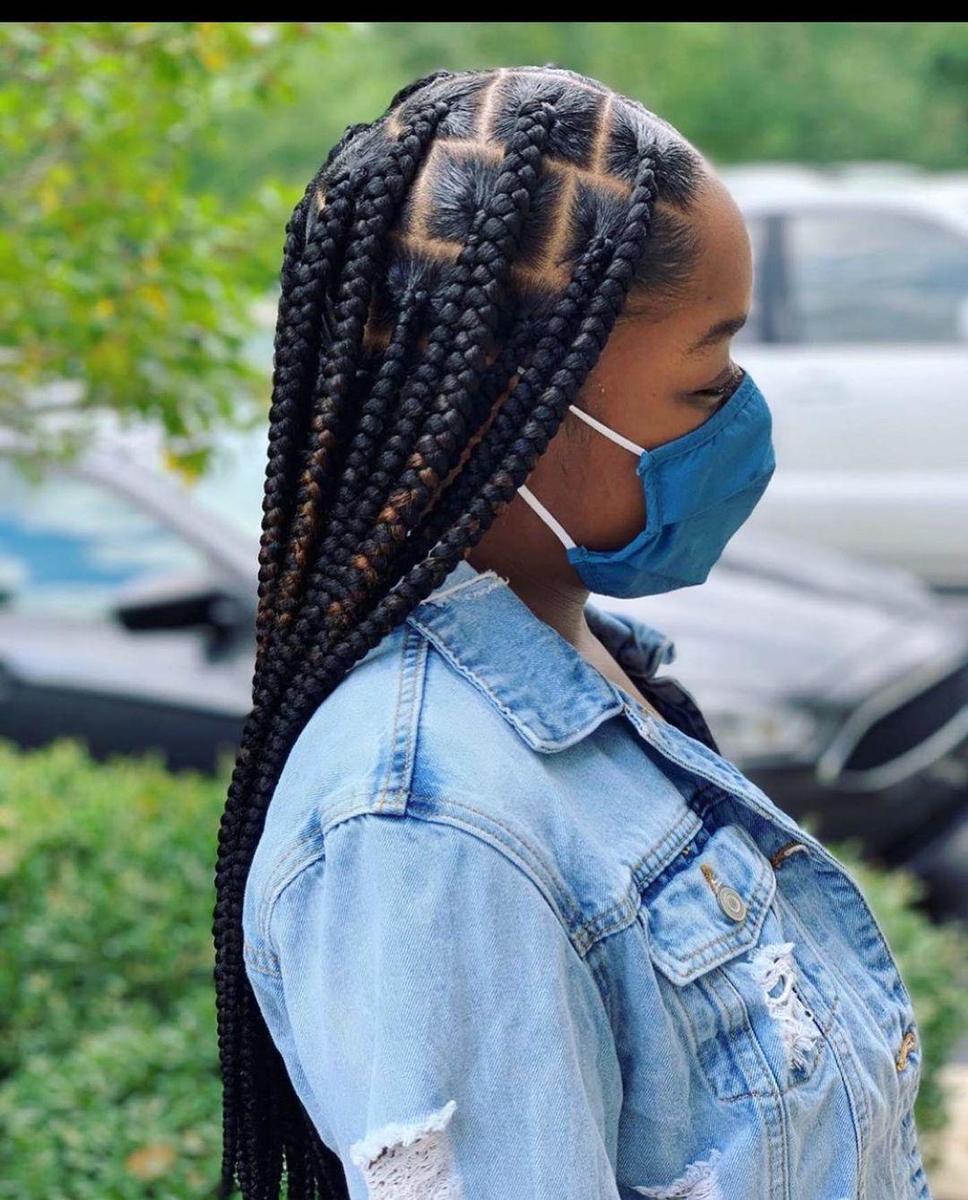 11++ Jumbo knotless braids trends