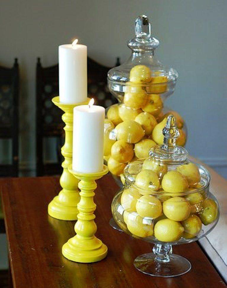 Candles and lemon arrangement ♥♥