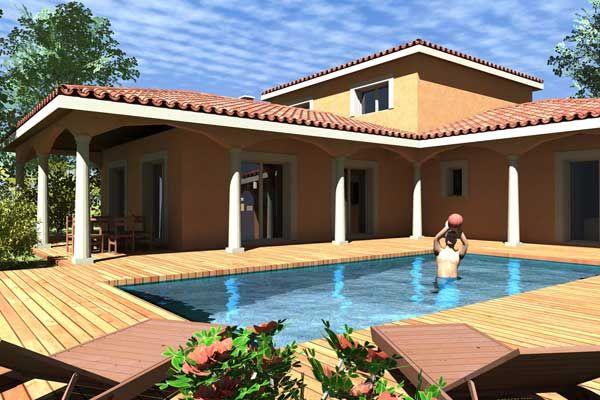 Préférence Maison moderne Tahiti - plan maison 3D | casas de campo  BZ63