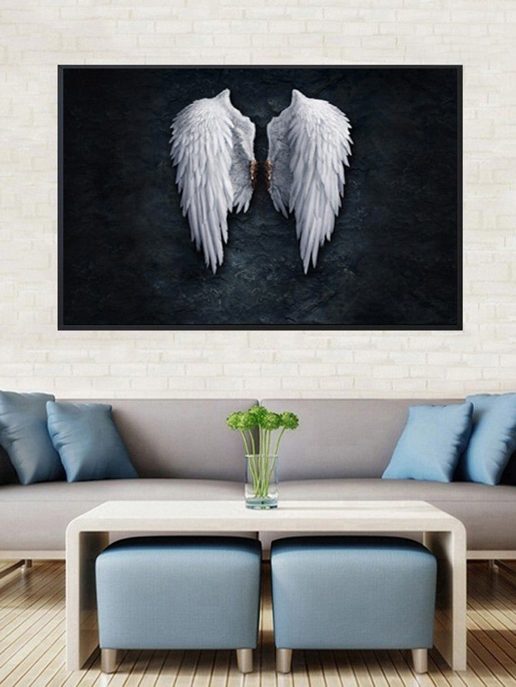 Angel wings print framed canvas painting frames for