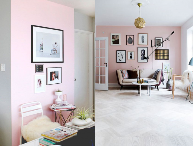 30 inspirations d co pour une touche de rose pastel inspiration design et blog for Peinture pastel salon
