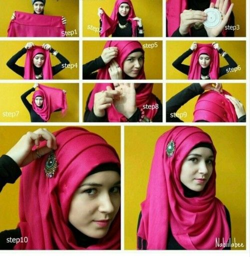 Tutorial this look is effortlessly gorgeous! 15 Easy and Simple Hijab  Tutorials for Beautiful Look