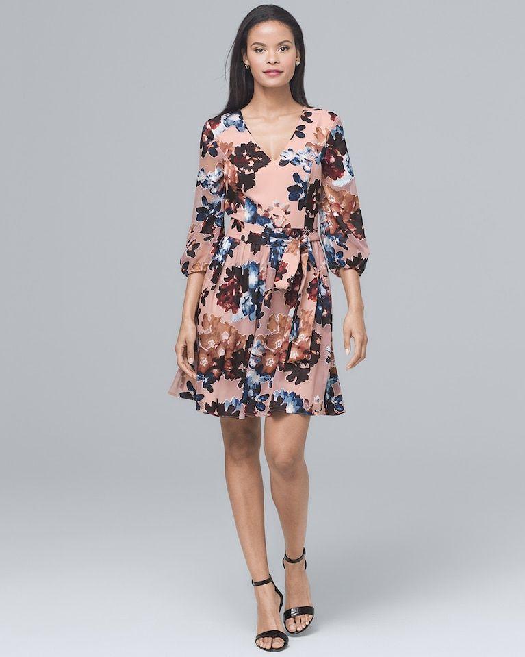 6e32acdf36 Women s Vince Camuto Floral-Burnout Blouson Dress by White House Black  Market