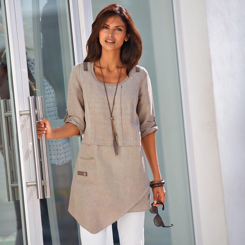tunique asym trique lin coton vue 1 v tements et accessoires pinterest tuniques coton. Black Bedroom Furniture Sets. Home Design Ideas