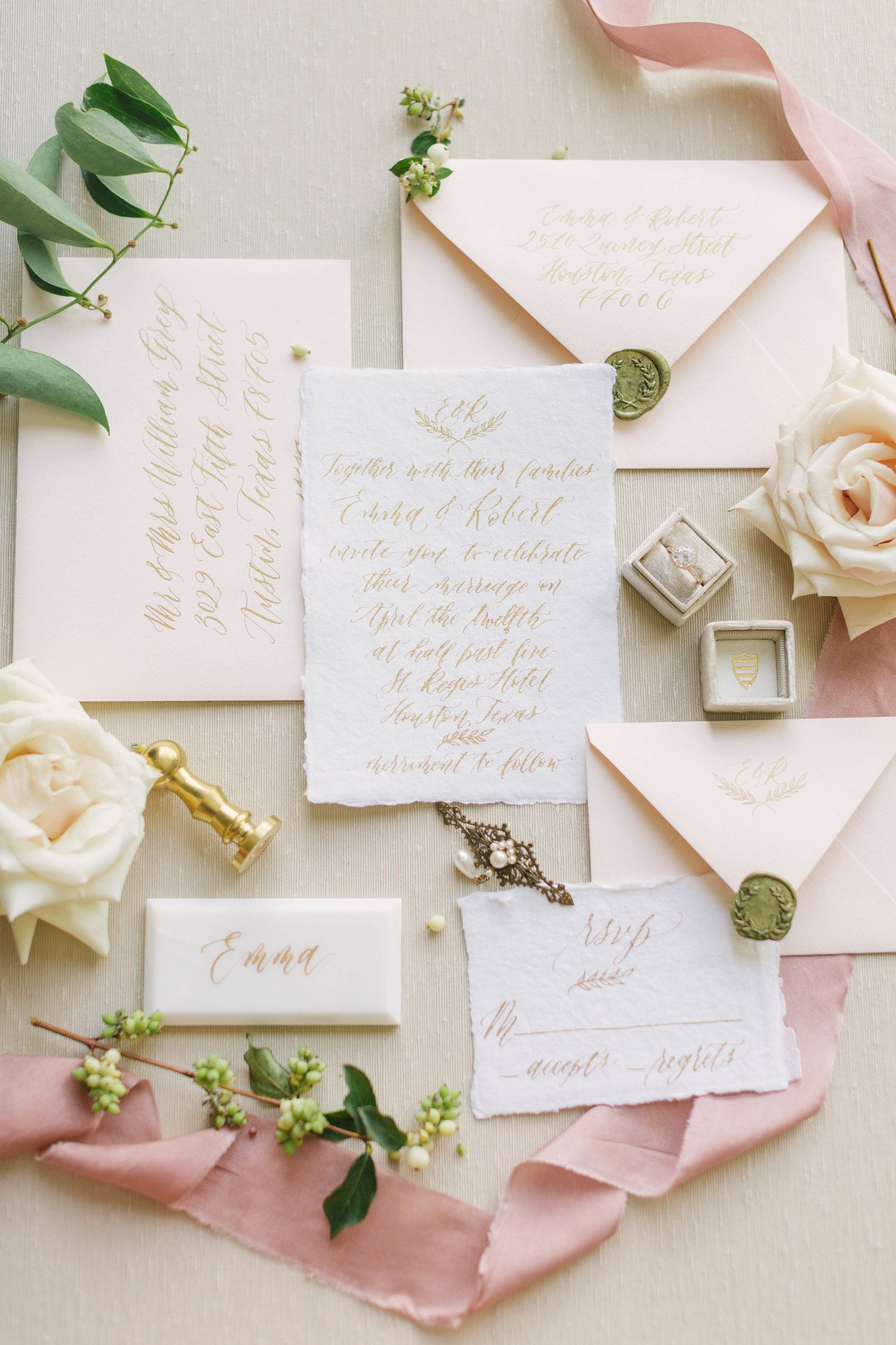 Beautiful Wedding Invitation Suite By Yellow Rose Calligraphy Photo By Fine Calligraphy Wedding Invitation Summer Wedding Invitations Fun Wedding Invitations