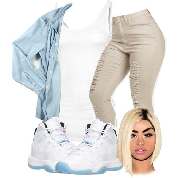 8ad6698a062a25 cute outfits with jordan retro 11s blue and white low top - Yahoo Image  Search Results