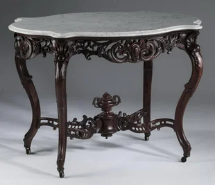 Day 2 Luxury Estates Private Collections Prices 576 Auction Price Results Great Gatsby S Auction Gallery Inc In 2020 Marble Table Top Chippendale Chairs Table