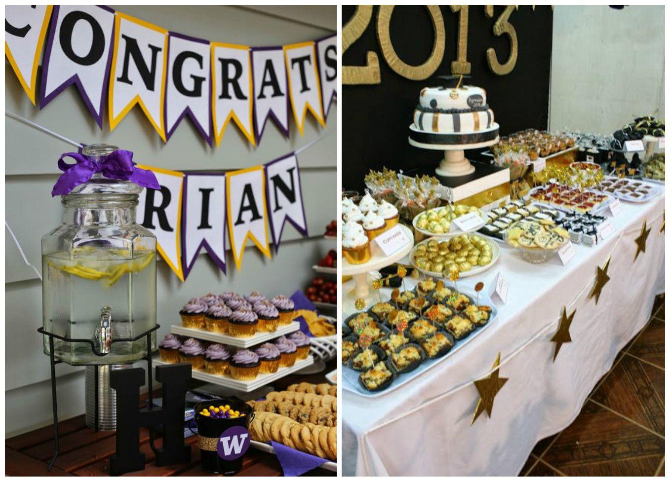 Mesa de dulces y manualidades para una fiesta de for Decoracion grado universidad