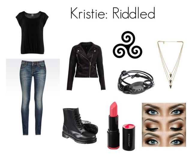 """Kristie: Riddled"" by tvdcjm ❤ liked on Polyvore featuring Vero Moda, Armani Jeans and Melanie Auld"