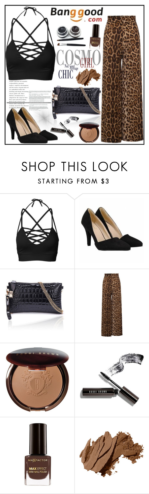 """Banggood 10"" by gaby-mil ❤ liked on Polyvore featuring Bobbi Brown Cosmetics and Max Factor"