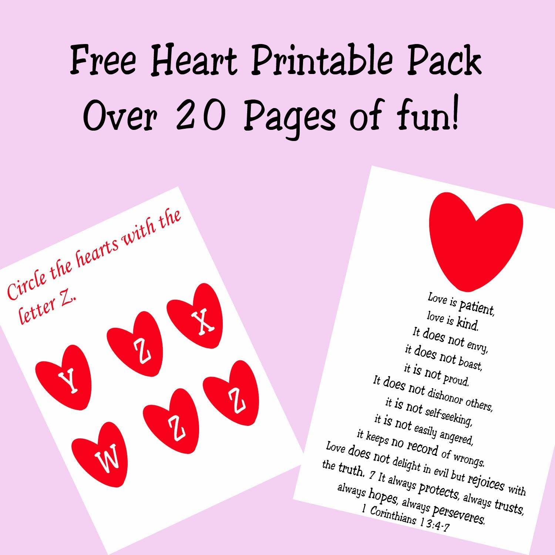 Free Heart Preschool Printable Pack