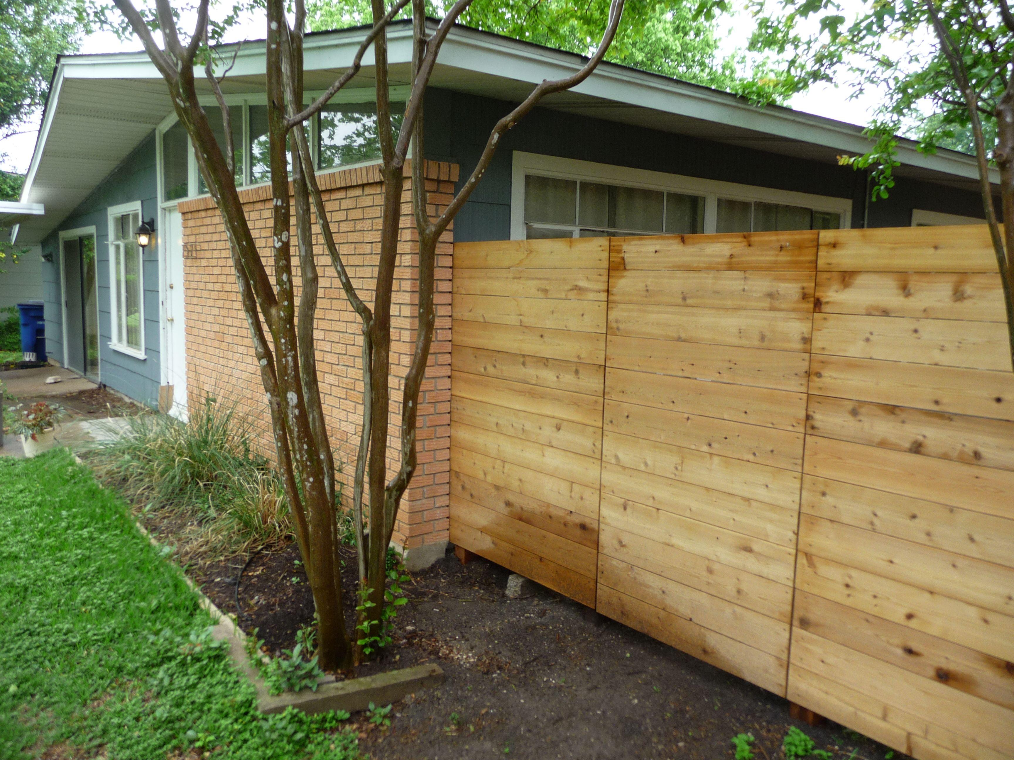 Basic Low Cost Horizontal Fence Pergola Cost Horizontal Fence