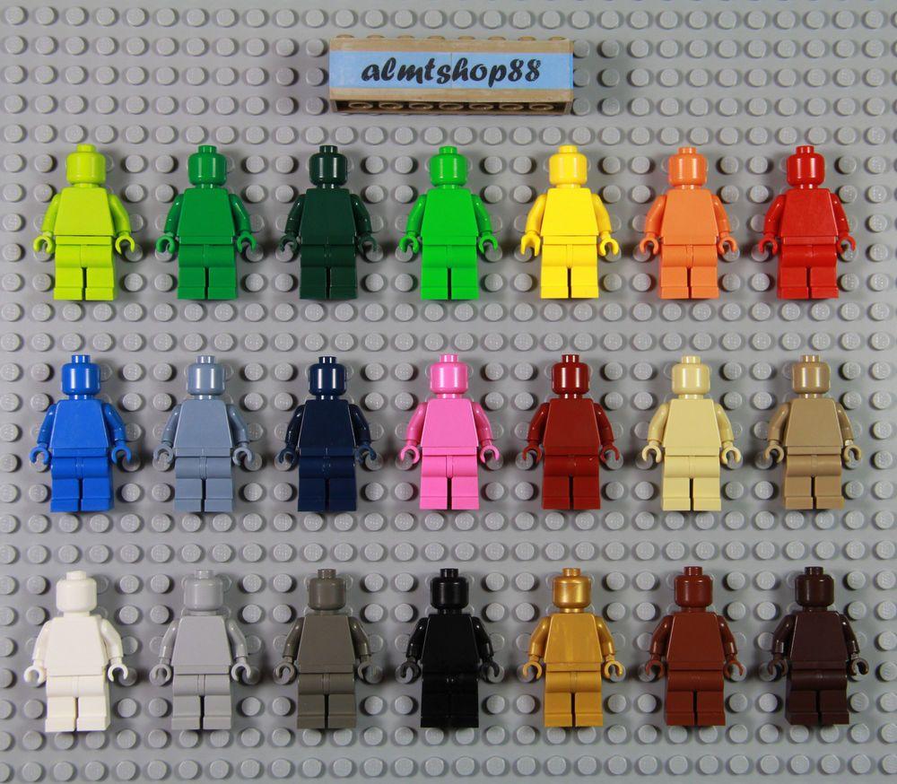 LEGO x 10 Black Torso Plain used minifig torso