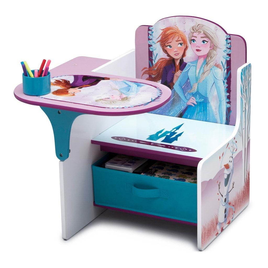 Disney S Frozen 2 Chair Desk With Storage Bin By Delta Children In 2020 Kids Chairs Delta Children Frozen Room