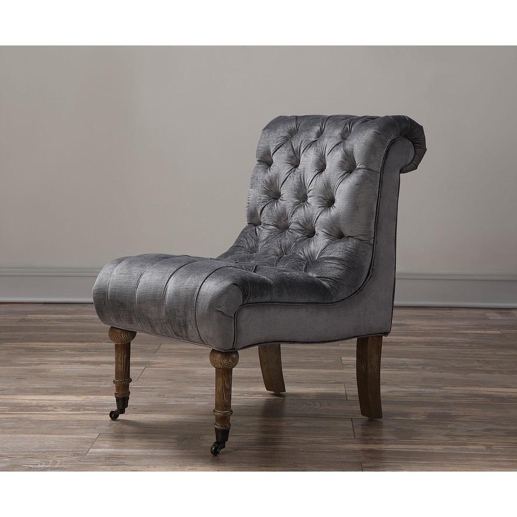 grey velvet slipper chair eddie bauer high target vivi tov furniture holly pinterest