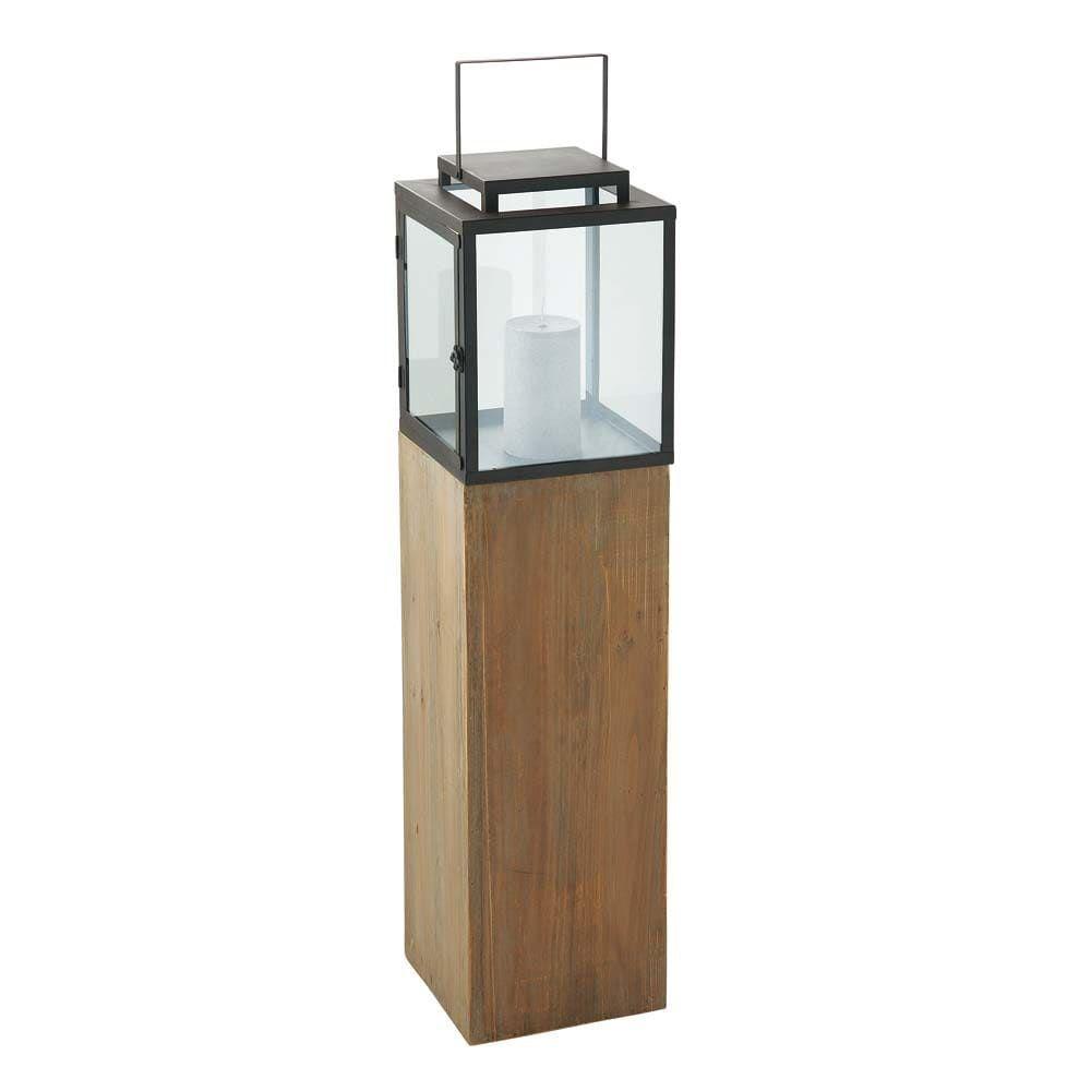 Tuindecoratie Holz Und Metall Kerzenglaser Windlicht