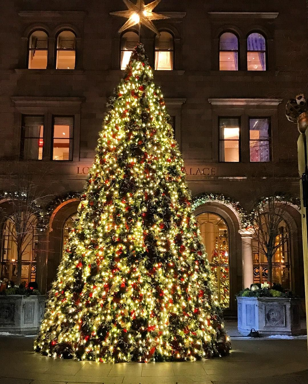 #Fbf to one last Christmas tree in the courtyard of The Villard Mansion designed by the premiere ...