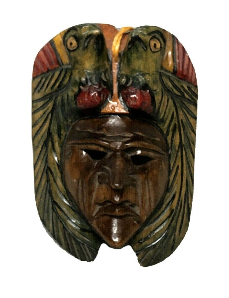 Mexican Central American Decorative 9 Quot Wooden Mask Wall