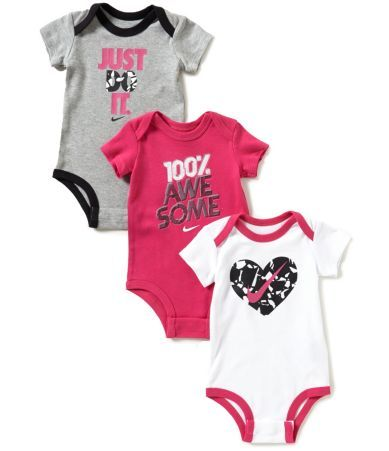 Nike Baby Girl Clothes Extraordinary Shop For Nike Baby Girls Newborn12 Months Bodysuit Threepack At