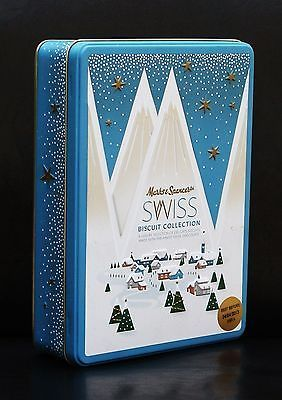Marks And Spencer Marks Spencer Ms Swiss Biscuit Tin Christmas Inspirational Metal