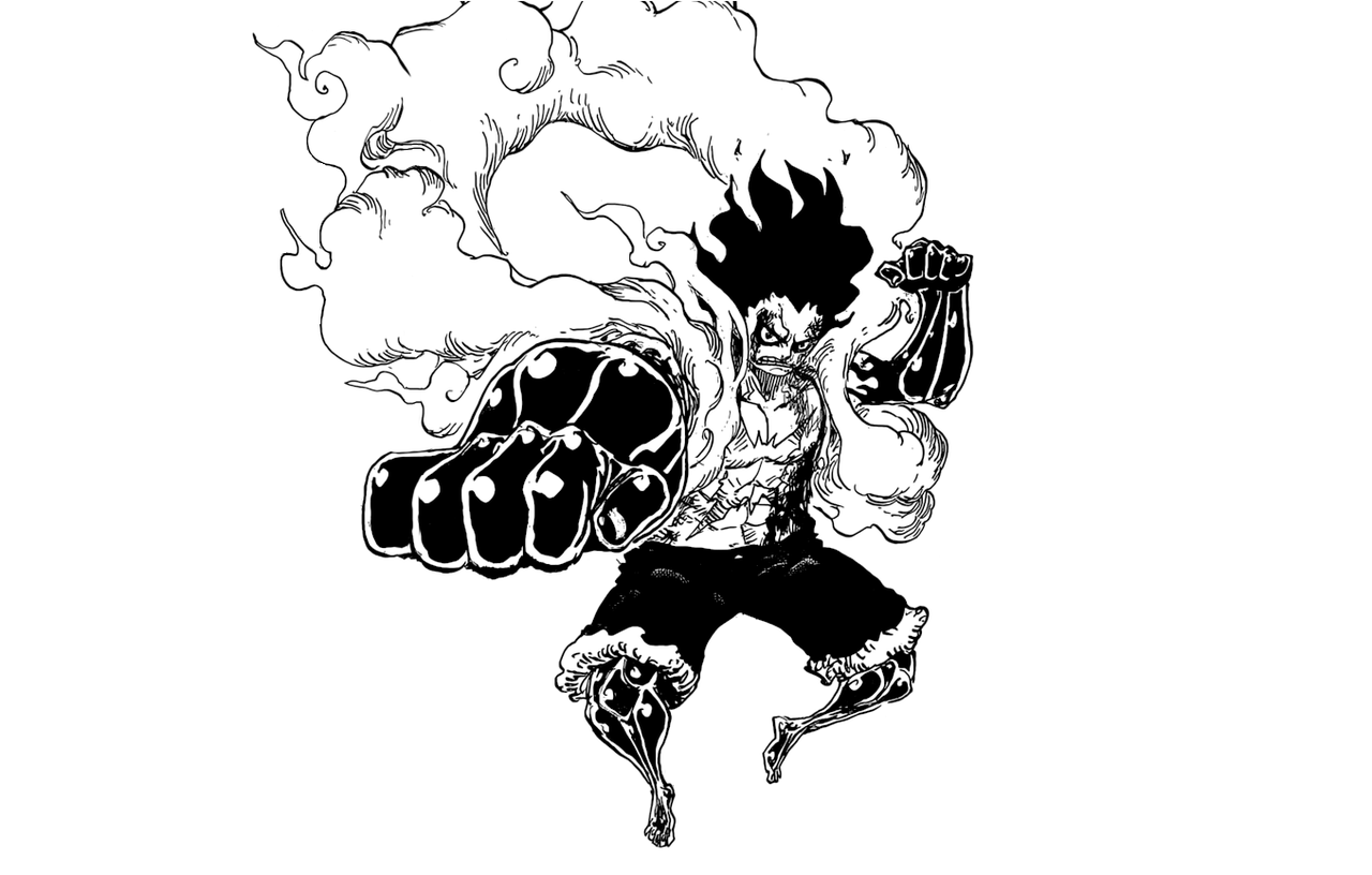 Most of it is original but i reblog some other stuff too. Monkey D Luffy Gear 4 One Piece Capitulo 895 Manga One Piece Drawing One Piece Tattoos Manga Anime One Piece