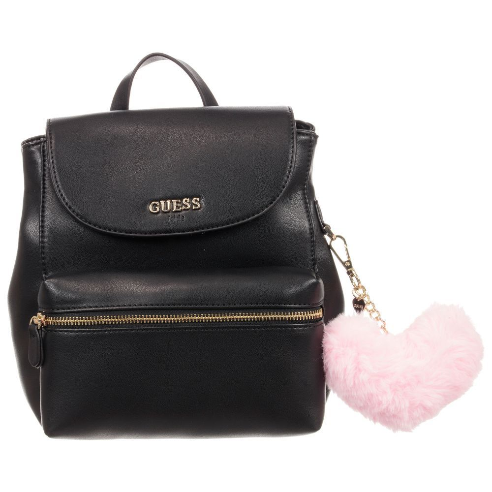 f49dc999110e Girls Black Backpack (25cm) for Girl by Guess. Discover more beautiful designer  Bags for kids online