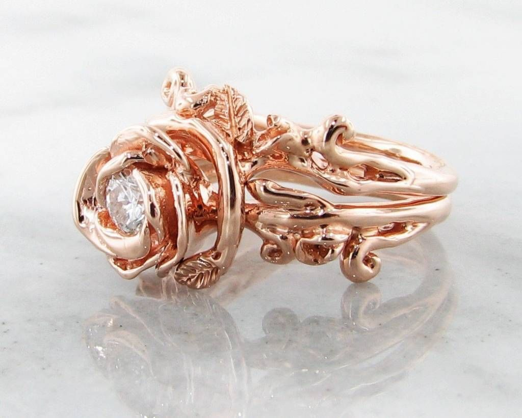 Rose gold rose petal wedding set dreamy All Things Pink