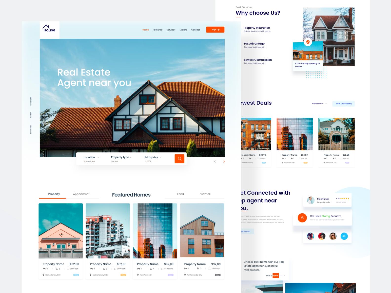 Real Estate Website Design In 2020 Real Estate Website Design Real Estate Website Website Design