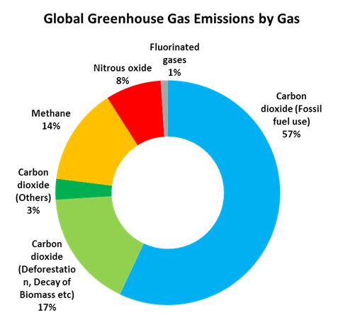 Global warming and greenhouse gas emissions