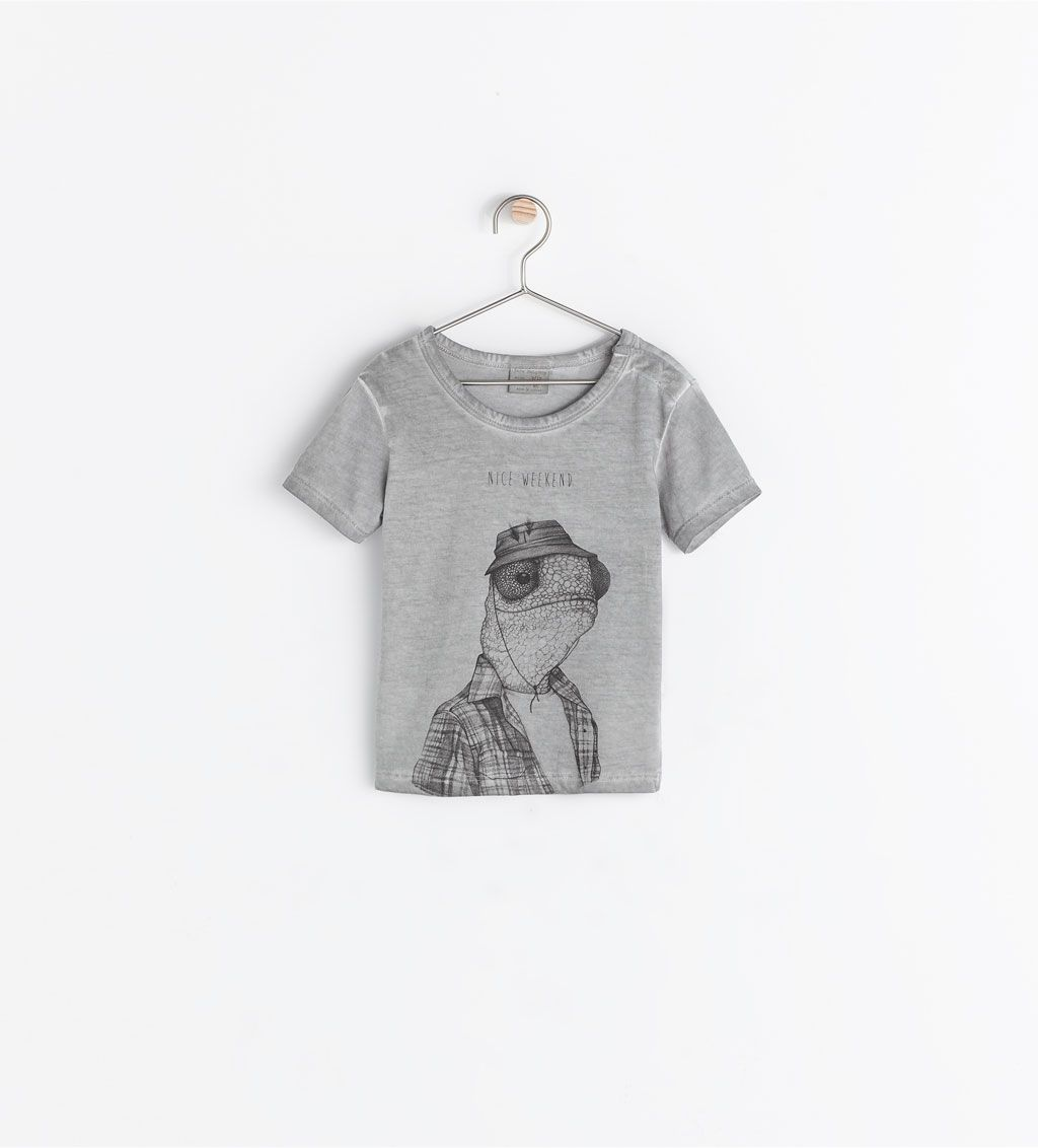 ZARA - KIDS - PRINTED T-SHIRT WITH SNAP BUTTON