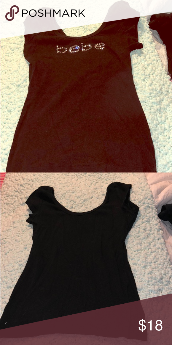cfd989b5223b Doesn't fit, in great condition Black Bebe off the shoulder shirt bebe Tops  Tees - Short Sleeve